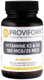 Vitamine K2 - 180 mcg & D3 - 25 mcg - 60 Vegicaps