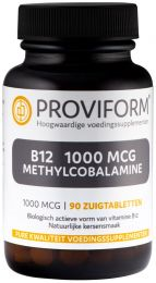 Vitamine B12 1000 mcg Methylcobalamine - 90 Zuigtabletten