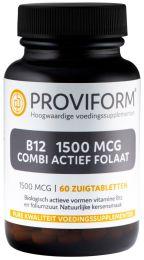Vitamine B12 1500 mcg Combi Actief Folaat - 60 Zuigtabletten