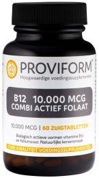 Vitamine B12 10.000 mcg Combi Actief Folaat - 60 Zuigtabletten