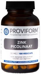 Zink Picolinaat 30 mg - 100 vegicaps