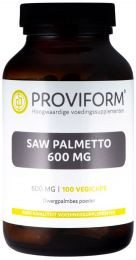Saw Palmetto 600 mg - 100 Vegicaps